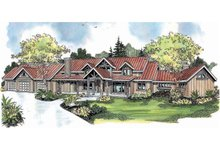 Craftsman Exterior - Front Elevation Plan #124-691