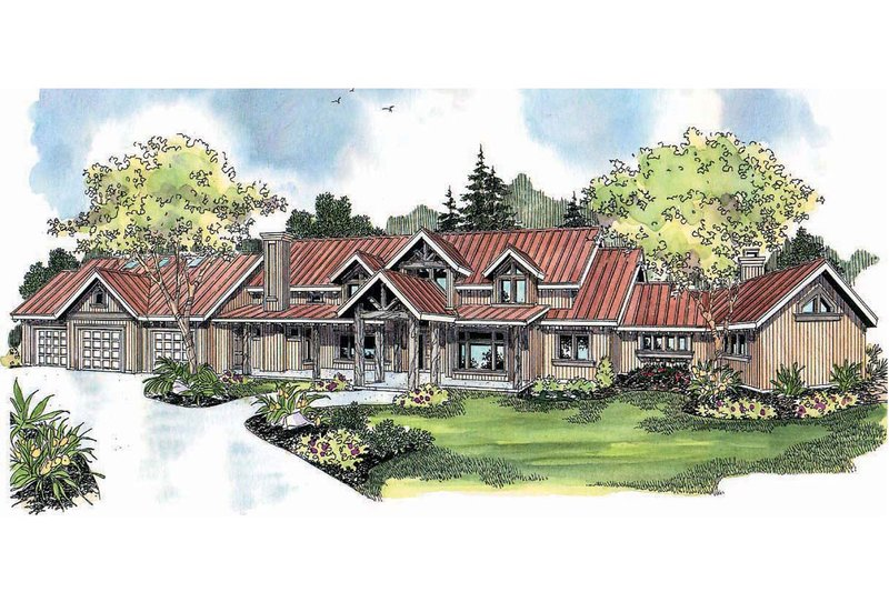 Craftsman Exterior - Front Elevation Plan #124-691 - Houseplans.com