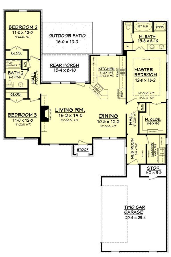 European Floor Plan - Main Floor Plan Plan #430-98