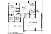 Craftsman Style House Plan - 3 Beds 2 Baths 1351 Sq/Ft Plan #70-1159 Floor Plan - Main Floor Plan