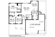 Craftsman Style House Plan - 3 Beds 2 Baths 1351 Sq/Ft Plan #70-1159