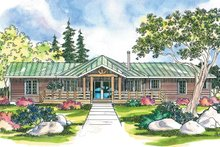 Home Plan - Ranch Exterior - Front Elevation Plan #124-205