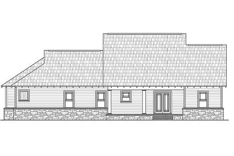 Craftsman Exterior - Rear Elevation Plan #21-274 - Houseplans.com