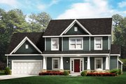 Traditional Style House Plan - 3 Beds 2.5 Baths 2050 Sq/Ft Plan #1010-229 Exterior - Front Elevation