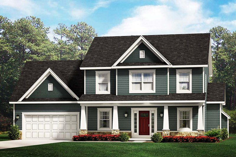 Traditional Style House Plan - 3 Beds 2.5 Baths 2050 Sq/Ft Plan #1010-229