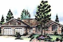 House Blueprint - Ranch Exterior - Front Elevation Plan #18-140