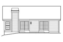 Ranch Exterior - Rear Elevation Plan #57-382