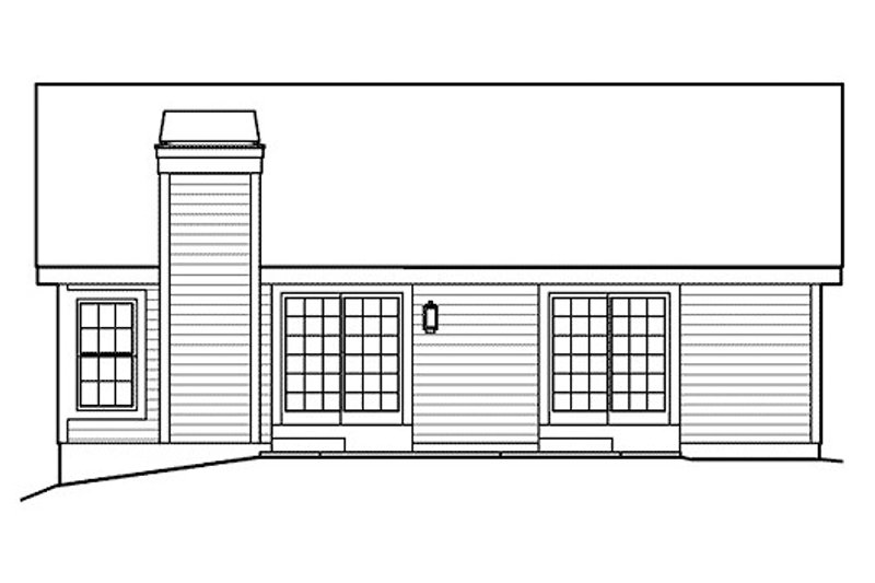 Ranch Exterior - Rear Elevation Plan #57-382 - Houseplans.com