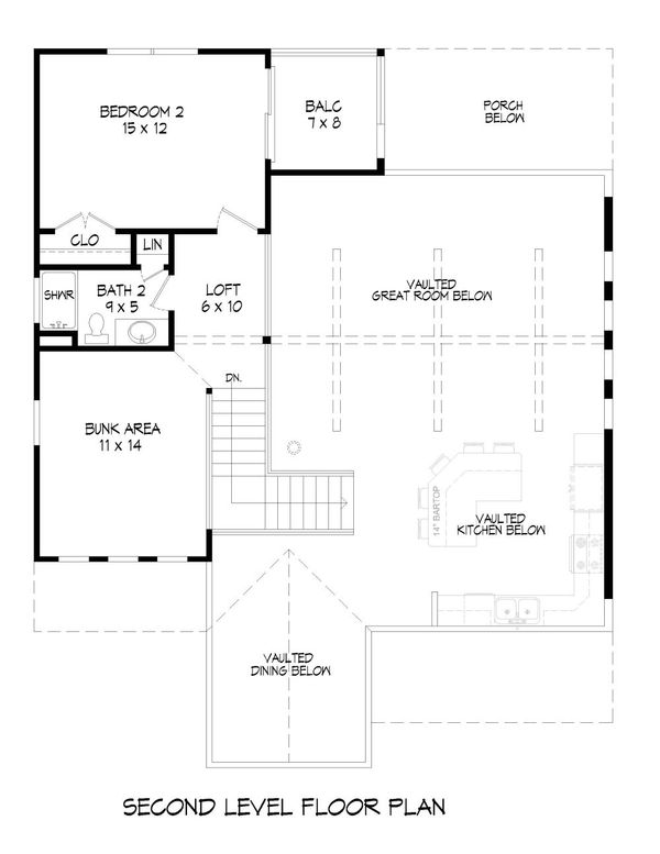 Country Floor Plan - Upper Floor Plan Plan #932-9