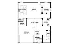 Modern Floor Plan - Main Floor Plan Plan #1076-2