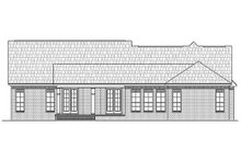 Home Plan - Traditional style Country Design rear elevation