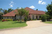 Country Style House Plan - 4 Beds 3 Baths 4290 Sq/Ft Plan #65-219 Exterior - Front Elevation