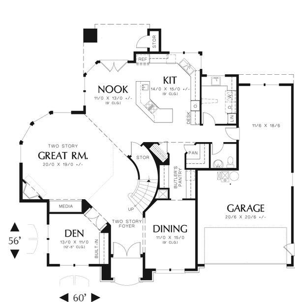 European Floor Plan - Main Floor Plan Plan #48-546
