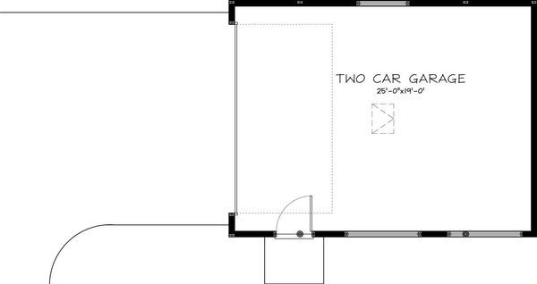 Craftsman Style House Plan - 0 Beds 0 Baths 520 Sq/Ft Plan #895-52 Floor Plan - Main Floor Plan