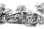 Colonial Style House Plan - 4 Beds 3.5 Baths 3462 Sq/Ft Plan #72-207 Exterior - Rear Elevation