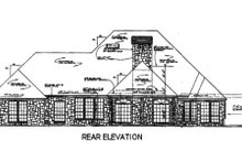 European Exterior - Rear Elevation Plan #310-557