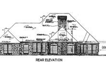 House Design - European Exterior - Rear Elevation Plan #310-557