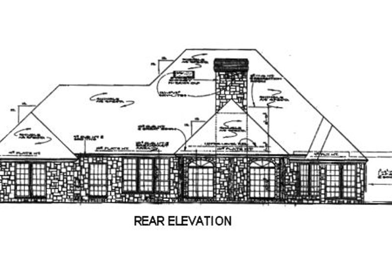European Exterior - Rear Elevation Plan #310-557 - Houseplans.com