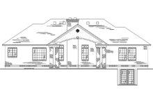 Dream House Plan - Ranch Exterior - Rear Elevation Plan #5-242
