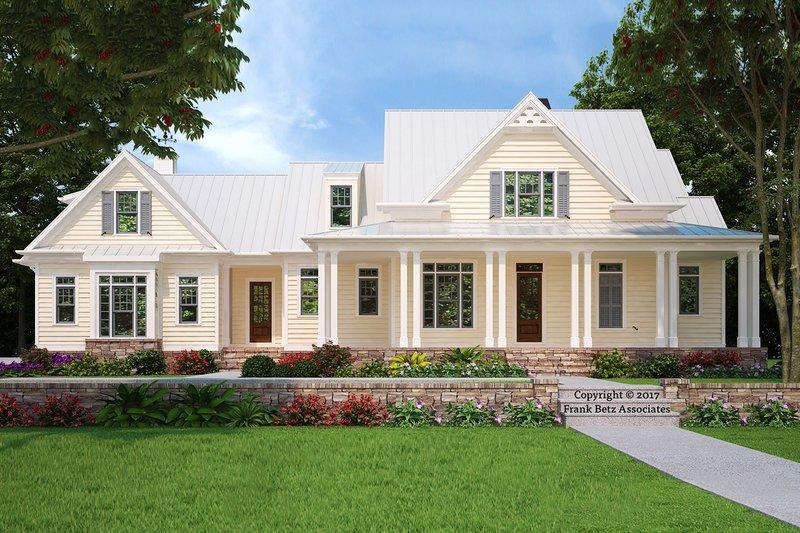 Farmhouse Exterior - Front Elevation Plan #927-988