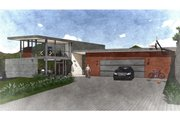 Modern Style House Plan - 2 Beds 3 Baths 1811 Sq/Ft Plan #498-2 Exterior - Front Elevation
