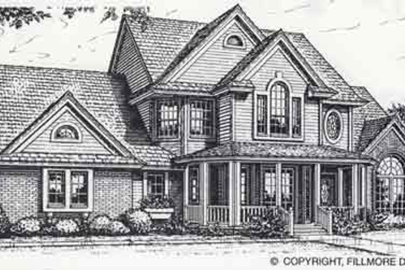 Colonial Style House Plan - 3 Beds 0 Baths 2455 Sq/Ft Plan #310-818 Exterior - Front Elevation