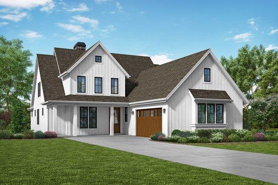 Architectural House Design - Farmhouse Exterior - Front Elevation Plan #48-940