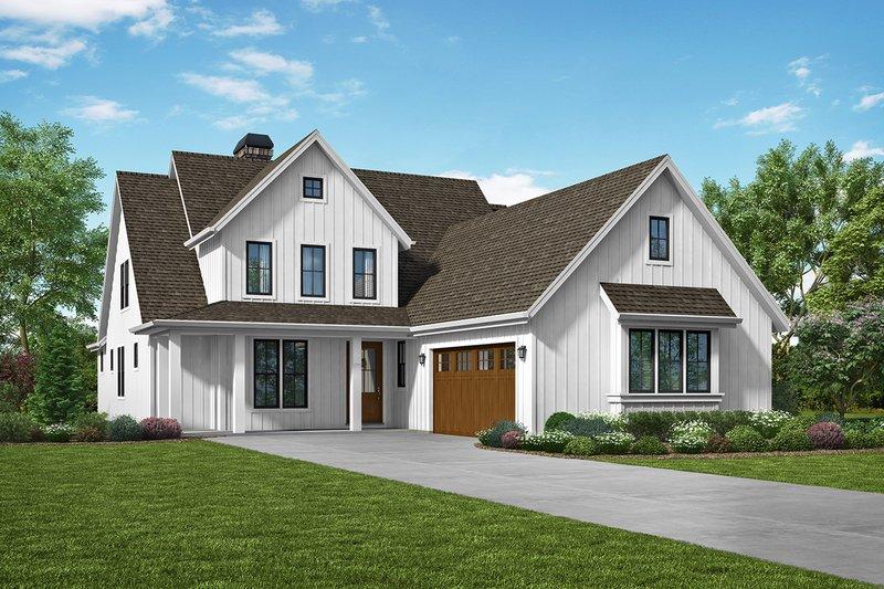 Dream House Plan - Farmhouse Exterior - Front Elevation Plan #48-940