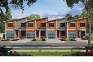 House Blueprint - Contemporary Exterior - Front Elevation Plan #20-2464