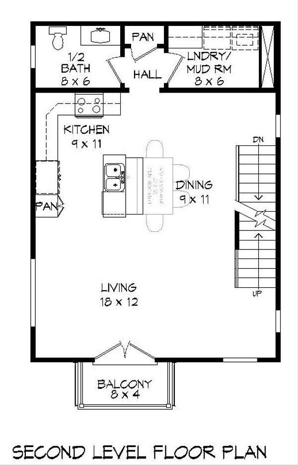 Contemporary Floor Plan - Upper Floor Plan #932-127