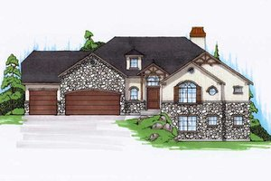 Home Plan Design - Traditional Exterior - Front Elevation Plan #5-255