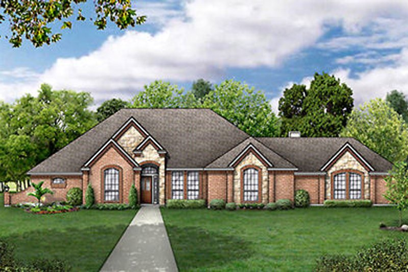 Home Plan - European Exterior - Front Elevation Plan #84-251