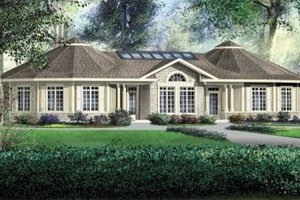 European Exterior - Front Elevation Plan #25-4125
