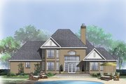 European Style House Plan - 4 Beds 3 Baths 2469 Sq/Ft Plan #929-884 Exterior - Rear Elevation
