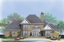European Exterior - Rear Elevation Plan #929-884
