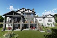 House Plan Design - Craftsman Exterior - Rear Elevation Plan #1069-13
