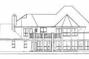 European Style House Plan - 4 Beds 3.5 Baths 3723 Sq/Ft Plan #52-161 Exterior - Rear Elevation