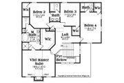 Traditional Style House Plan - 4 Beds 3.5 Baths 2369 Sq/Ft Plan #419-312 Floor Plan - Upper Floor