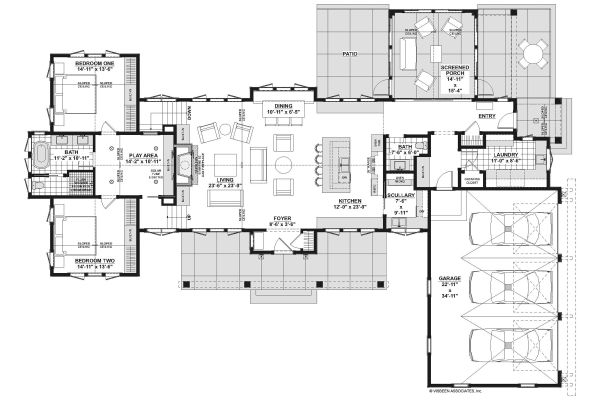 Architectural House Design - Farmhouse Floor Plan - Main Floor Plan #928-338