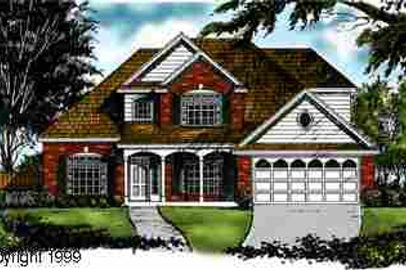 Traditional Exterior - Front Elevation Plan #40-136
