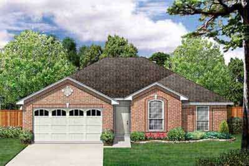 Traditional Exterior - Front Elevation Plan #84-206 - Houseplans.com