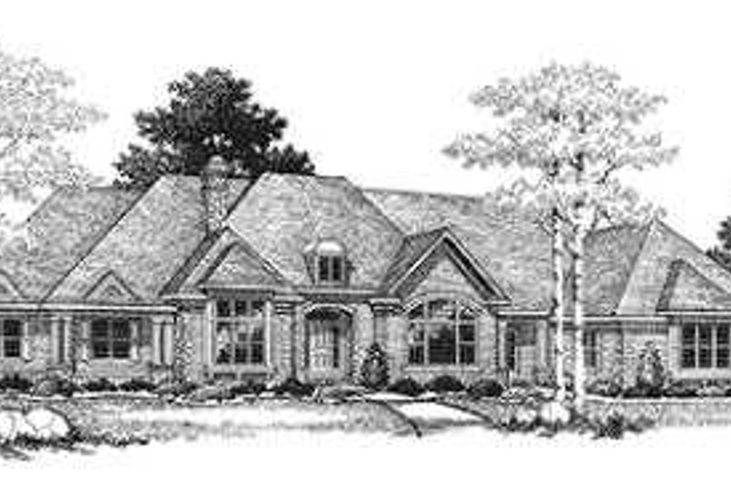 Traditional Exterior - Front Elevation Plan #70-556 - Houseplans.com