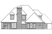 European Style House Plan - 4 Beds 3.5 Baths 2567 Sq/Ft Plan #310-723 Exterior - Rear Elevation
