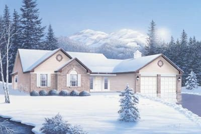 Traditional Exterior - Front Elevation Plan #57-104 - Houseplans.com