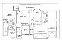 Traditional Floor Plan - Main Floor Plan Plan #5-268