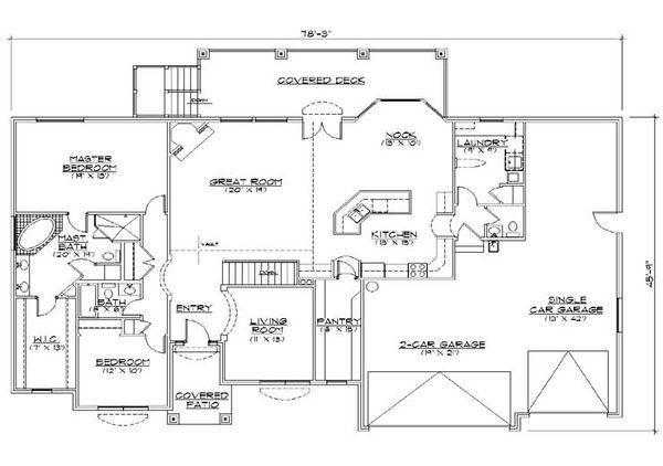 House Plan Design - Traditional Floor Plan - Main Floor Plan #5-268