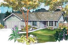 Home Plan - Ranch Exterior - Front Elevation Plan #124-468