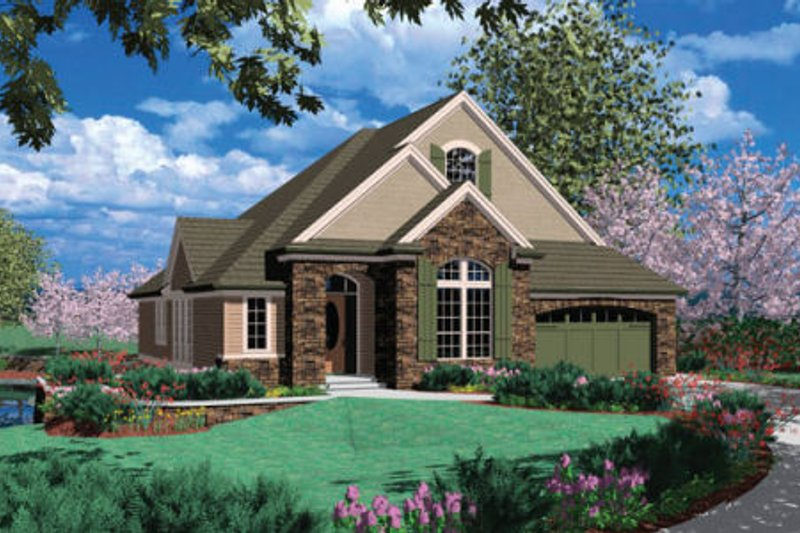 Traditional Exterior - Front Elevation Plan #48-296