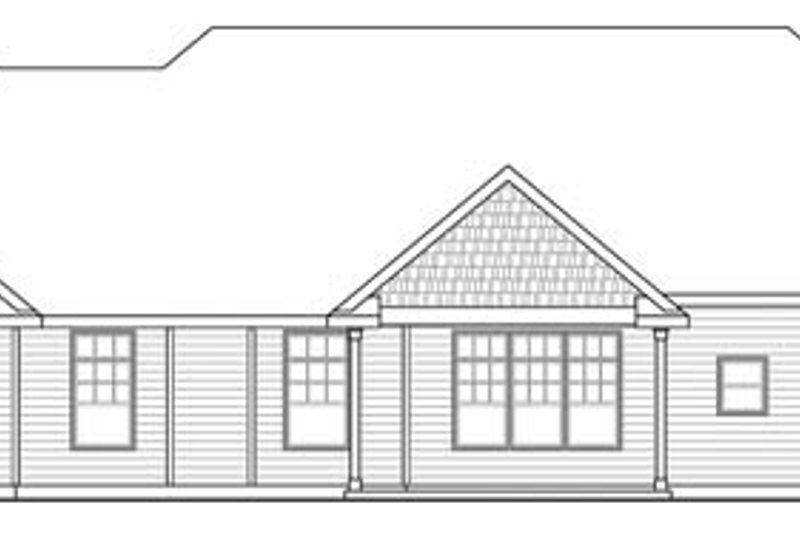 Craftsman Exterior - Rear Elevation Plan #124-846 - Houseplans.com
