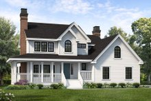 House Plan Design - Country Exterior - Front Elevation Plan #47-943